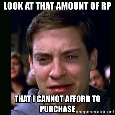 crying peter parker - look at that amount of rp that i cannot afford to purchase