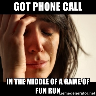 crying girl sad - GOt Phone call In the middle of A game of fun rUn