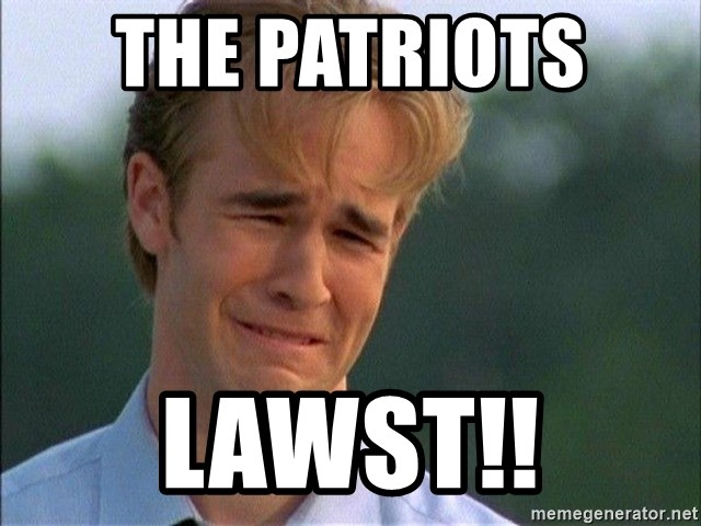 Dawson Crying - The Patriots  Lawst!!
