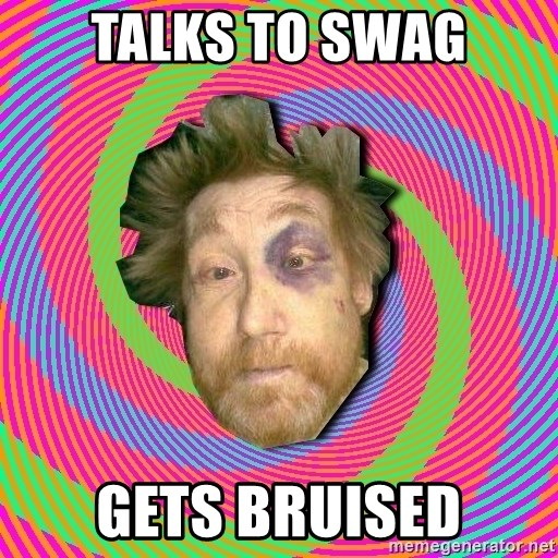 Russian Boozer - talks to swag gets bruised
