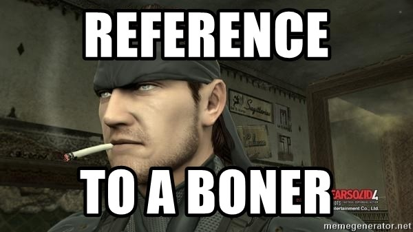Solid Snake - Reference to a boner