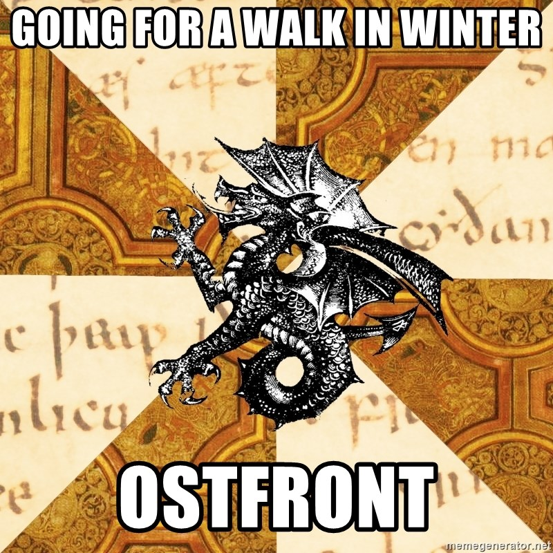 History Major Heraldic Beast - Going For a walk in winter Ostfront