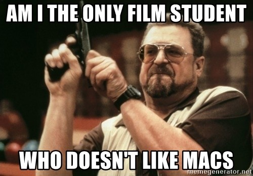 Walter Sobchak with gun - Am i the only film student who doesn't like macs