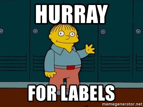 Ralph Wiggum - hurray for labels