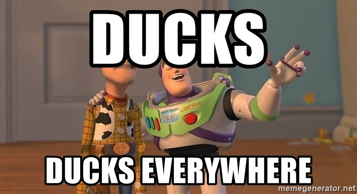 ORIGINAL TOY STORY - DUCKS ducks everywhere