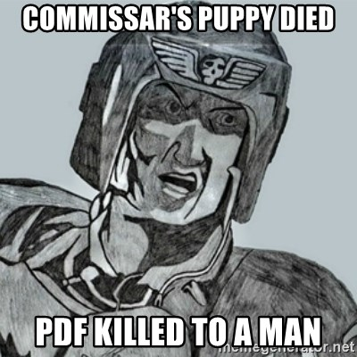 PDF Trooper - Commissar's puppy died PDF killed to a man
