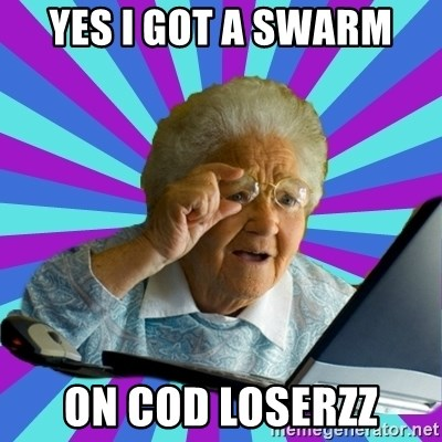 old lady - YES I GOT A SWARM ON COD LOSERZZ