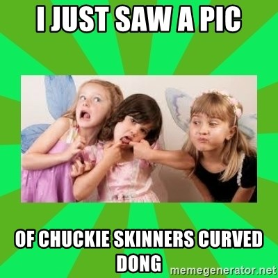 CARO EMERALD, WALDECK AND MISS 600 - I JUST SAW A PIC OF CHUCKIE SKINNERS CURVED DONG