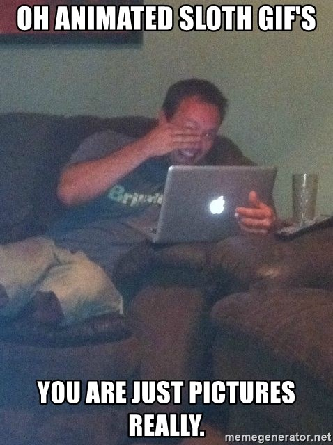 Meme Dad - OH animated sloth gif's You are just pictures really.