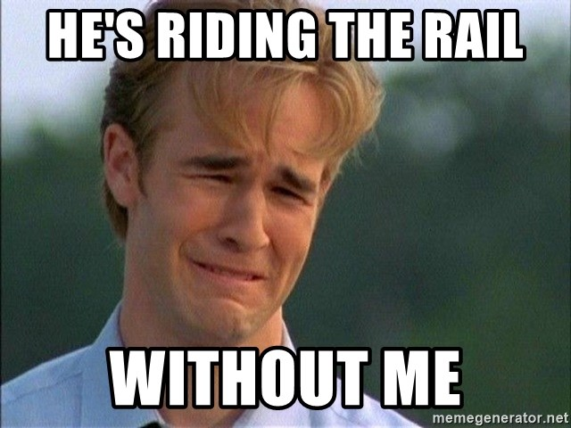 Dawson Crying - he's riding the rail without me