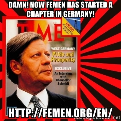 Helmut looking at top right image corner. - Damn! Now FEMEN has started a chapter in germany! http://femen.org/en/