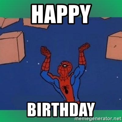 60's spiderman - HAPPY BIRTHDAY