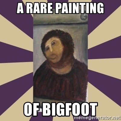 Retouched Ecce Homo - a rare painting of bigfoot
