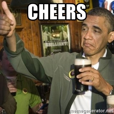 THUMBS UP OBAMA - Cheers
