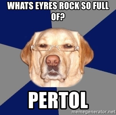 Racist Dawg - WHATS EYRES ROCK SO FULL OF? PERTOL