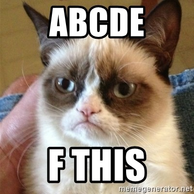 Grumpy Cat  - abcde F this