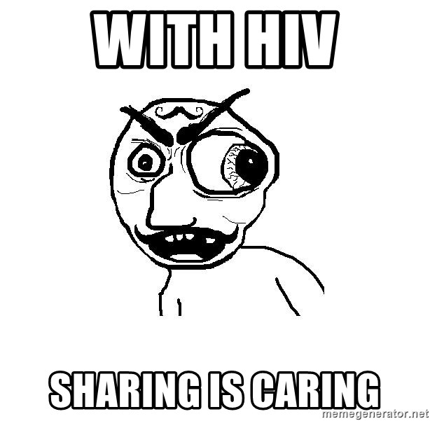 Cuddler - with hiv sharing is caring