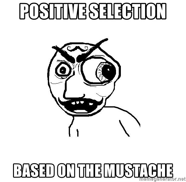 Cuddler - positive selection based on the mustache