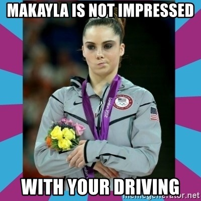 Makayla Maroney  - Makayla is not impressed With your driving