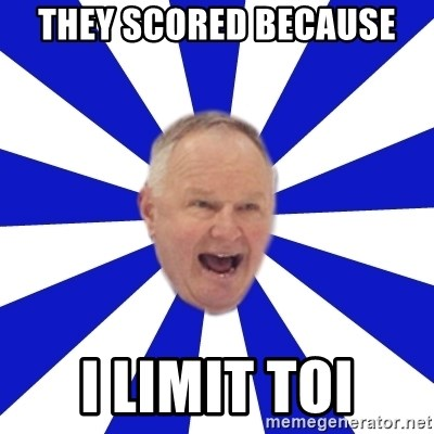 Crafty Randy - they scored because i limit toi