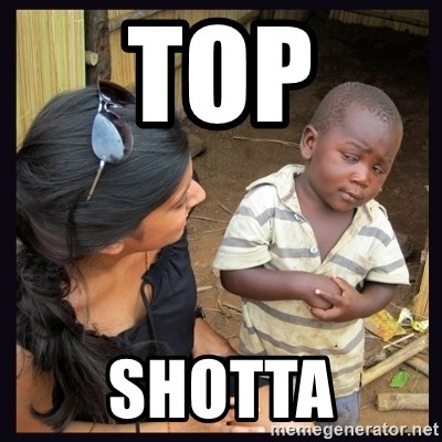 Skeptical third-world kid - top shotta