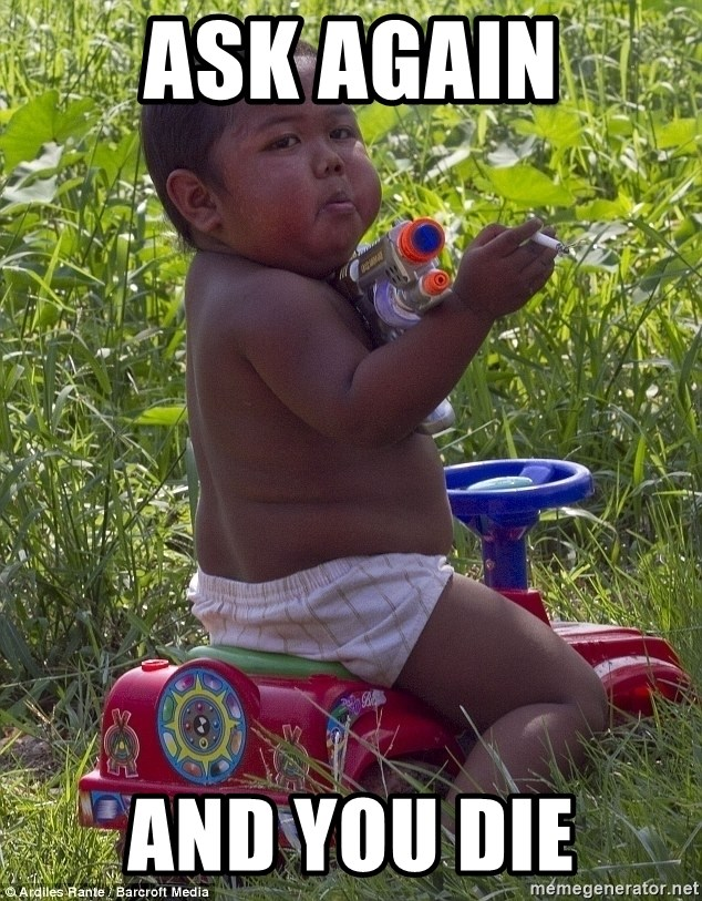 Swagger Baby - ask again and you die