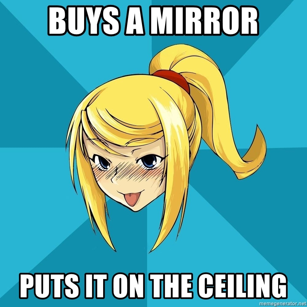 Horney Samus - Buys a Mirror Puts it on the ceiling