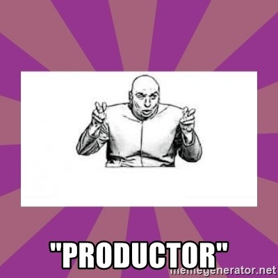 """'dr. evil' air quote -  """"Productor"""""""