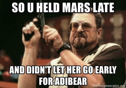 Walter Sobchak with gun - SO U hELD MARS LATE AND DIDN't LET HER GO EARLY FOR ADIBEAR