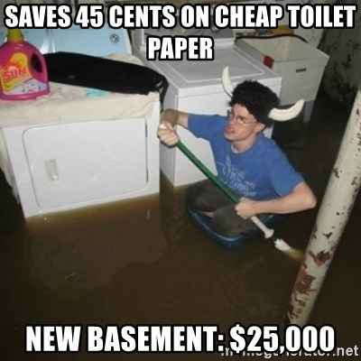 laundry room viking 2012 - saves 45 cents on cheap toilet paper new basement: $25,000