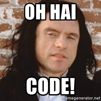 Disgusted Tommy Wiseau - Oh Hai Code!