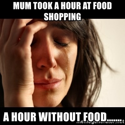 crying girl sad - MUM TOOK A HOUR AT FOOD SHOPPING A HOUR WITHOUT FOOD.......