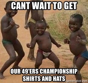 african children dancing - Cant wait to get our 49'ers championship shirts and hats