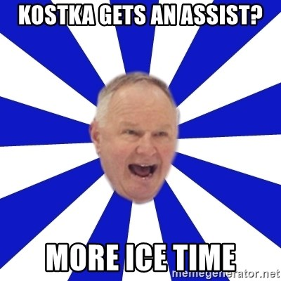 Crafty Randy - KOSTKA GETS AN ASSIST? MORE ICE TIME