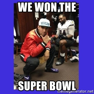 PAY FLACCO - WE WON THE SUPER BOWL