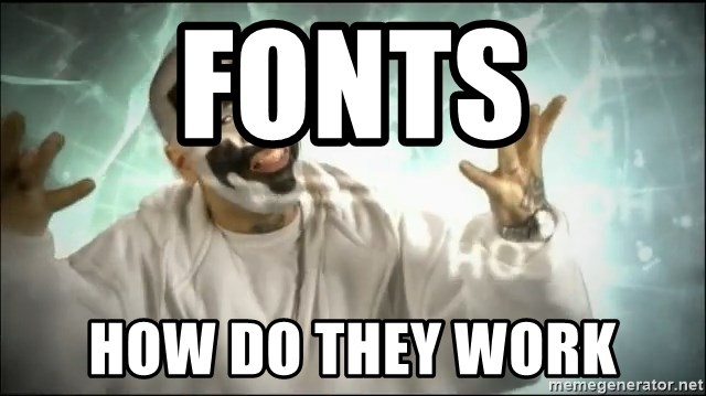Insane Clown Posse - Fonts How do they work