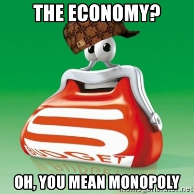 Scumbag Spar - the economy? oh, you mean monopoly