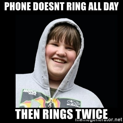 Samin makro - Phone doesnt ring all day then rings twice