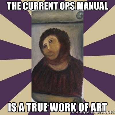 Retouched Ecce Homo - the current ops manual is a true work of art