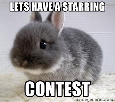 ADHD Bunny - LETS HAVE A STARRING CONTEST