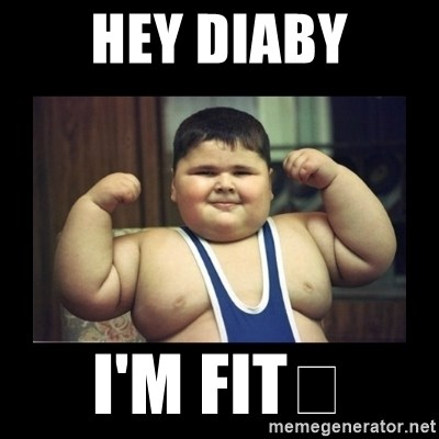 Fat kid - Hey diaby I'm fit😂