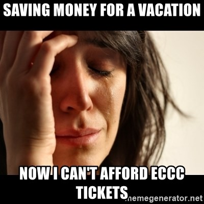 crying girl sad - Saving money for a vacation now i can't afford ECCc tickets