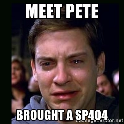 crying peter parker - meet pete brought a sp404