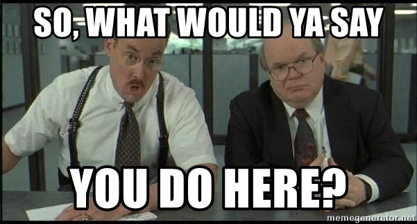 Office space - SO, WHAT WOULD YA SAY YOU DO HERE?