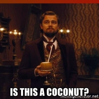 you had my curiosity dicaprio -  IS THIS A COCONUT?