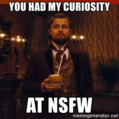 you had my curiosity dicaprio - YOU HAD MY CURIOSITY AT NSFW
