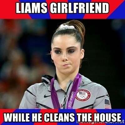 Mckayla Maroney Does Not Approve - liams girlfriend while he cleans the house