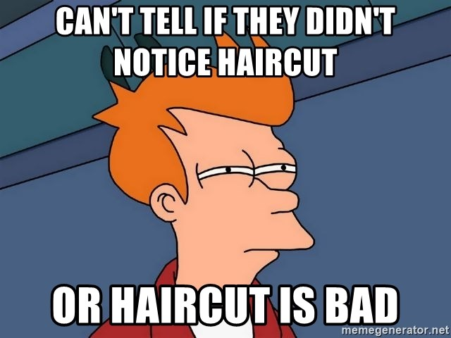 Futurama Fry - Can't tell if they didn't notice haircut or haircut is bad