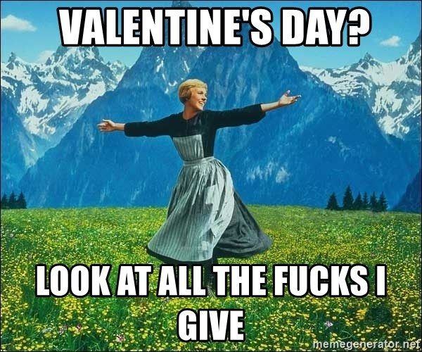 Look at all the things -  Valentine's day? look at all the fucks i give