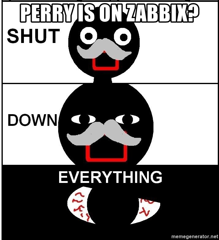 Shut Down Everything - perry is on zabbix?
